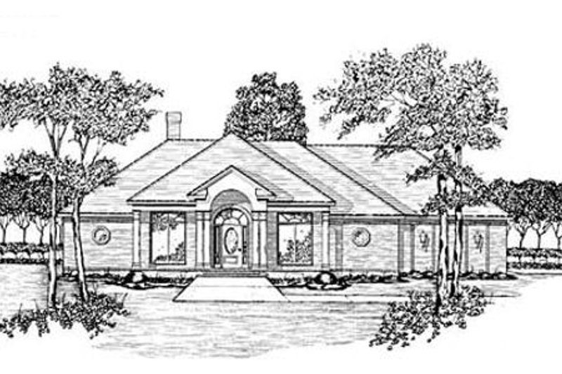 European Exterior - Front Elevation Plan #36-200