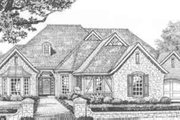 European Style House Plan - 3 Beds 2.5 Baths 2205 Sq/Ft Plan #310-357 Exterior - Front Elevation