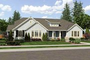 Bungalow Style House Plan - 3 Beds 2.5 Baths 2436 Sq/Ft Plan #46-479 Exterior - Front Elevation