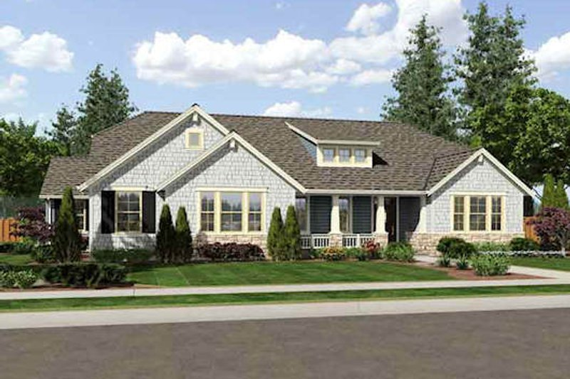 Bungalow Exterior - Front Elevation Plan #46-479