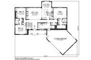 Ranch Style House Plan - 3 Beds 2.5 Baths 2150 Sq/Ft Plan #70-1480 Floor Plan - Main Floor Plan