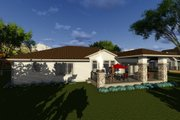 Ranch Style House Plan - 2 Beds 2 Baths 1904 Sq/Ft Plan #70-1270 Exterior - Rear Elevation