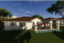 House Design - Ranch Exterior - Rear Elevation Plan #70-1270