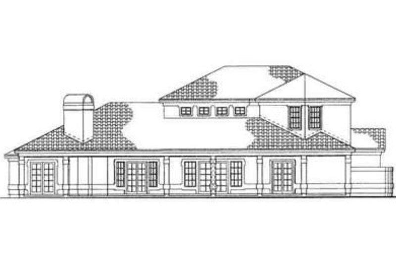 Adobe / Southwestern Exterior - Rear Elevation Plan #72-220 - Houseplans.com