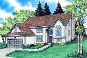Architectural House Design - Traditional Exterior - Front Elevation Plan #405-210