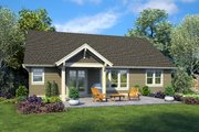 Craftsman Style House Plan - 3 Beds 2 Baths 1605 Sq/Ft Plan #48-998 Exterior - Rear Elevation