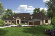 European Style House Plan - 4 Beds 4.5 Baths 5575 Sq/Ft Plan #48-654 Exterior - Front Elevation