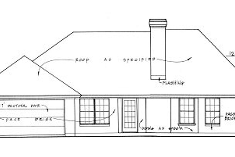 European Exterior - Rear Elevation Plan #40-300 - Houseplans.com