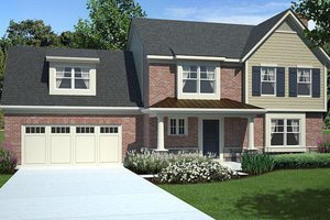 Traditional Exterior - Front Elevation Plan #46-457