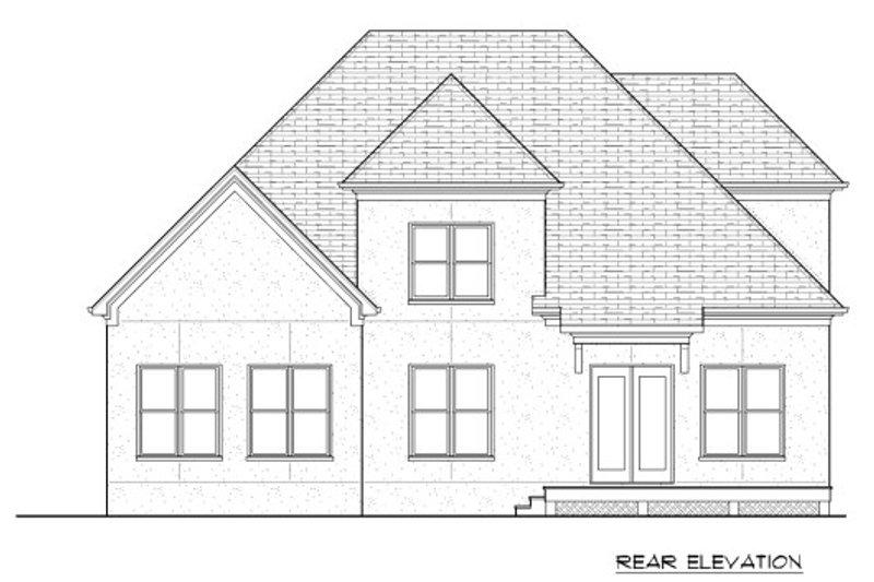 European Exterior - Rear Elevation Plan #413-874 - Houseplans.com