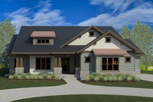 Craftsman Exterior - Front Elevation Plan #920-33