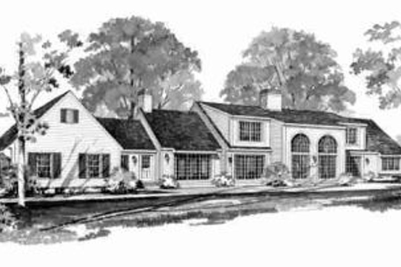 Traditional Exterior - Rear Elevation Plan #72-300 - Houseplans.com