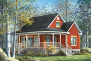 Country Style House Plan - 4 Beds 1 Baths 1211 Sq/Ft Plan #25-4526 Exterior - Front Elevation