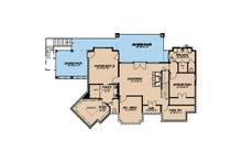 Craftsman Floor Plan - Lower Floor Plan Plan #923-21