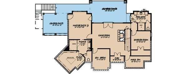 Craftsman Floor Plan - Lower Floor Plan Plan #923-21