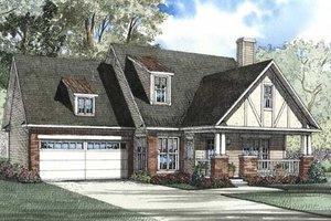 Tudor Exterior - Front Elevation Plan #17-2076