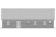 Traditional Style House Plan - 3 Beds 2 Baths 1426 Sq/Ft Plan #21-114 Exterior - Rear Elevation