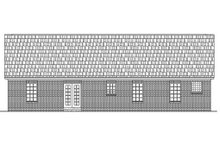 Home Plan - Traditional Exterior - Rear Elevation Plan #21-114