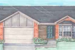 Ranch Exterior - Front Elevation Plan #136-117