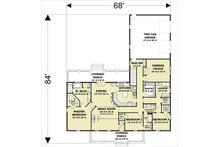 Craftsman Floor Plan - Main Floor Plan Plan #44-241