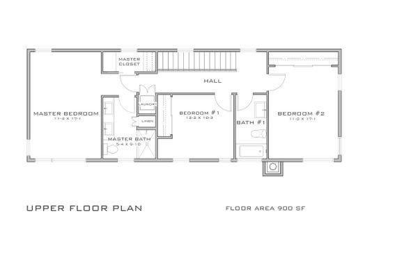Modern Floor Plan - Upper Floor Plan Plan #909-5