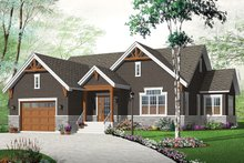 Ranch Exterior - Front Elevation Plan #23-2622