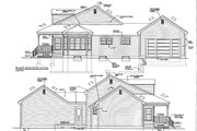 Classical Style House Plan - 3 Beds 2.5 Baths 1649 Sq/Ft Plan #3-289 Exterior - Other Elevation