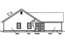 House Plan Design - Craftsman Exterior - Rear Elevation Plan #20-1880