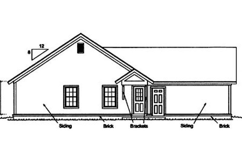 Craftsman Exterior - Rear Elevation Plan #20-1880 - Houseplans.com