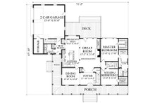 Farmhouse Floor Plan - Main Floor Plan Plan #137-252