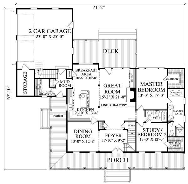 Farmhouse Floor Plan - Main Floor Plan #137-252