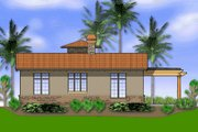 Mediterranean Style House Plan - 1 Beds 1 Baths 972 Sq/Ft Plan #48-284 Exterior - Rear Elevation