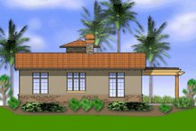 House Design - Mediterranean Exterior - Rear Elevation Plan #48-284