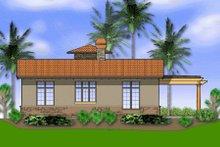Dream House Plan - Mediterranean Exterior - Rear Elevation Plan #48-284