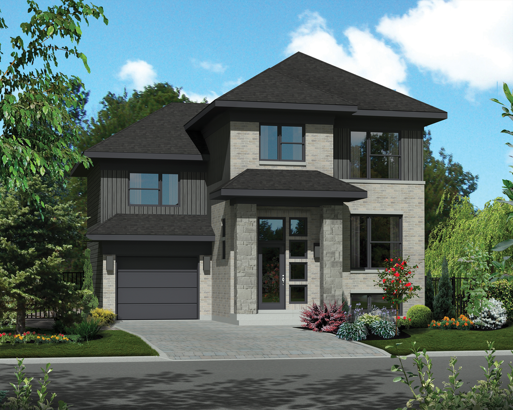 Contemporary style house plan 3 beds 1 baths 1592 sq ft for Nl house plans