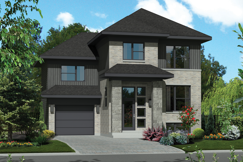 Home Plan - Contemporary Exterior - Front Elevation Plan #25-4276