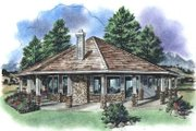 Contemporary Style House Plan - 1 Beds 1 Baths 695 Sq/Ft Plan #18-1051 Exterior - Front Elevation