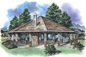 Contemporary Exterior - Front Elevation Plan #18-1051