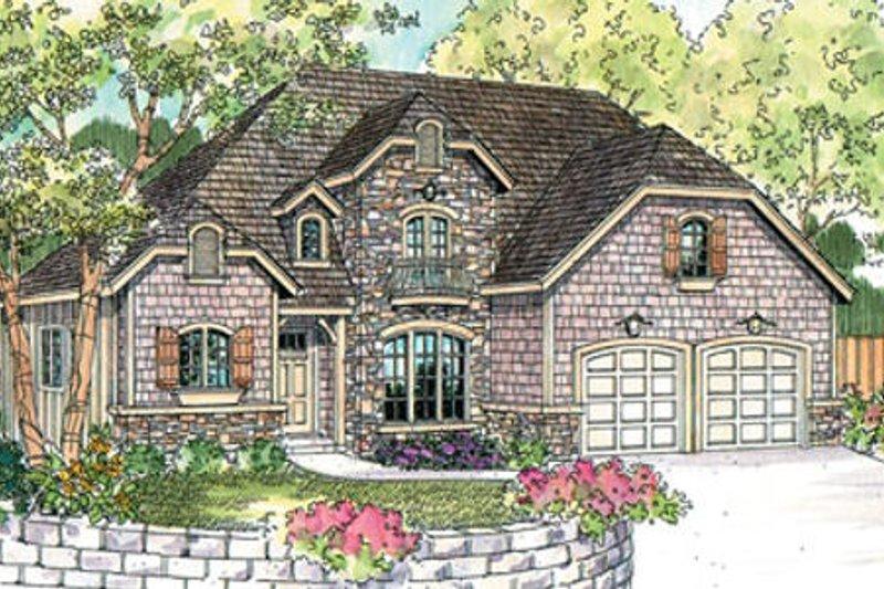 Dream House Plan - European Exterior - Front Elevation Plan #124-644