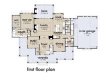 Farmhouse Floor Plan - Main Floor Plan Plan #120-266