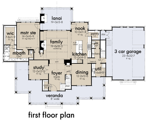 Farmhouse Floor Plan - Main Floor Plan Plan #120-266
