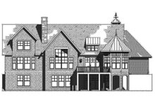 House Plan Design - Traditional Exterior - Rear Elevation Plan #901-137