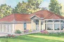 Home Plan - Mediterranean Exterior - Front Elevation Plan #124-432