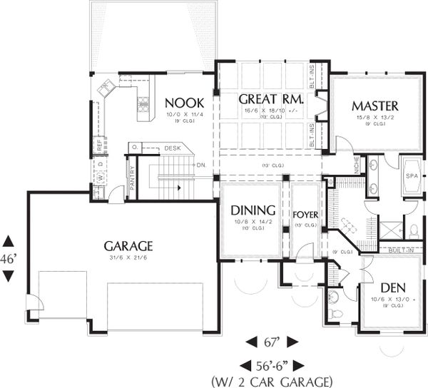 Craftsman style house plan 3 beds 2 5 baths 2898 sq ft for Nl house plans