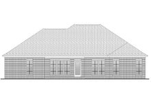 Home Plan - Traditional Exterior - Rear Elevation Plan #430-57