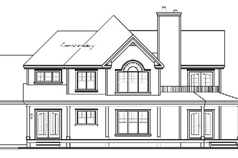 Country Exterior - Other Elevation Plan #23-744 - Houseplans.com