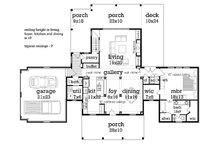 Traditional Floor Plan - Main Floor Plan Plan #45-380