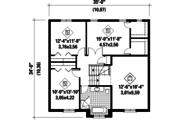 European Style House Plan - 3 Beds 1 Baths 1994 Sq/Ft Plan #25-4261 Floor Plan - Upper Floor Plan