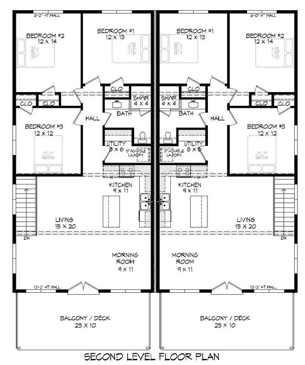 Contemporary Floor Plan - Upper Floor Plan Plan #932-179