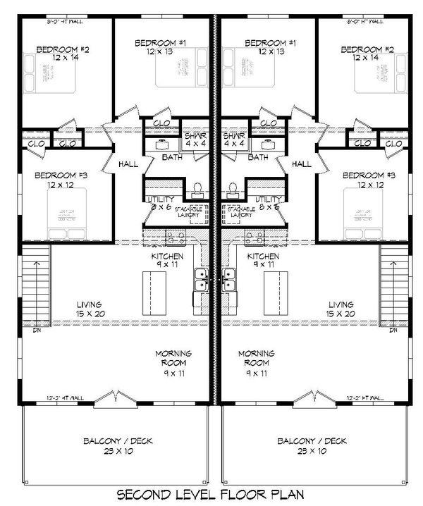 Dream House Plan - Contemporary Floor Plan - Upper Floor Plan #932-179